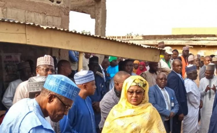 In Daura: Buhari, Wife cast their votes for the governorship and assembly elections