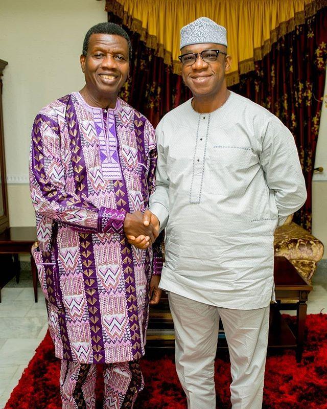 Dapo Abiodun Adeboye Okay ng 1 - Dapo Abiodun meets Pastor Adeboye after election victory [Photos]