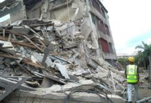 JUST IN! Another storey building collapses in Lagos