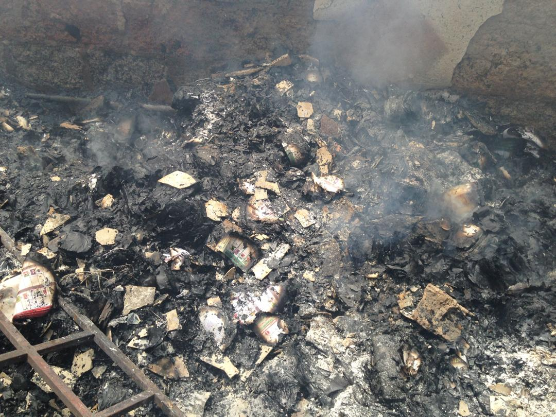INEC office burnt down in Akwa Ibom [In Photos]