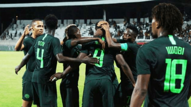 Nigeria Super Eagles Okay 390x220 - Nigeria defeats Egypt 1-0 in international friendly