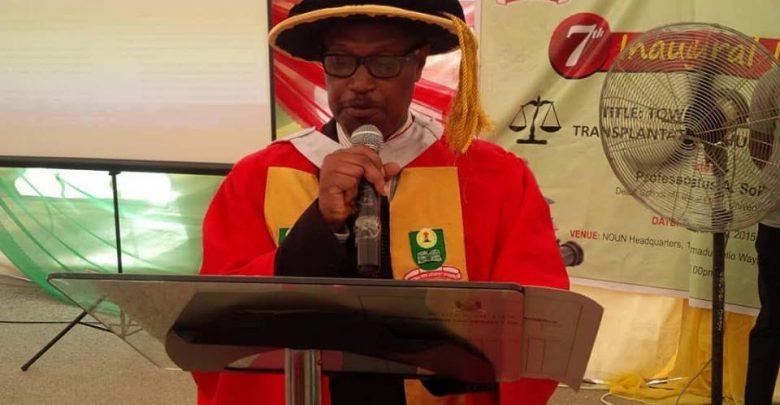 Prof. Justus Sokefun elected new Deputy Vice-Chancellor of NOUN