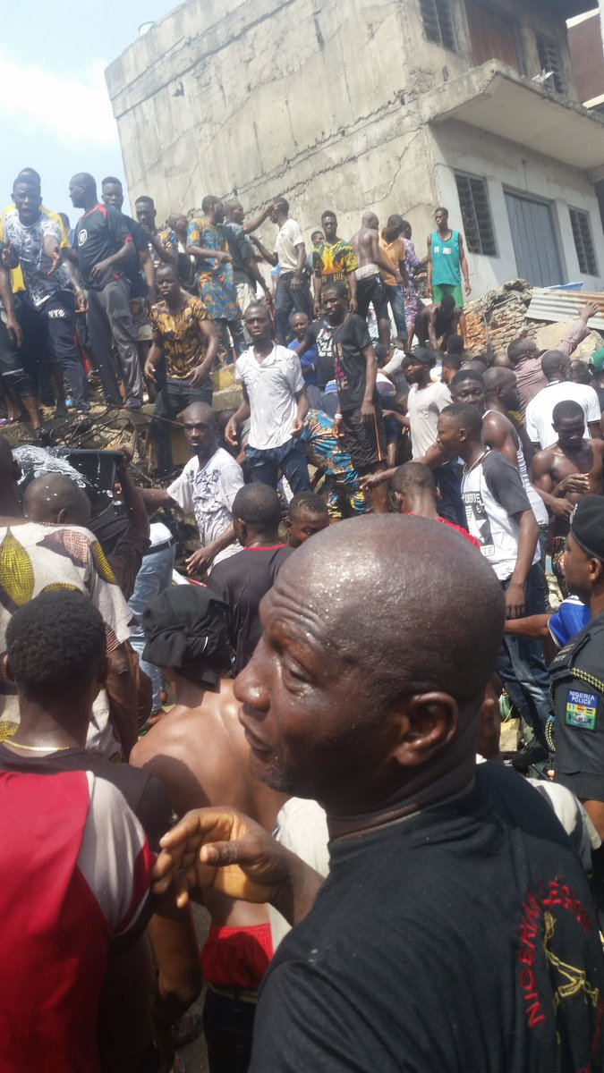 BREAKING! School building collapses in Lagos, Many feared dead, trapped