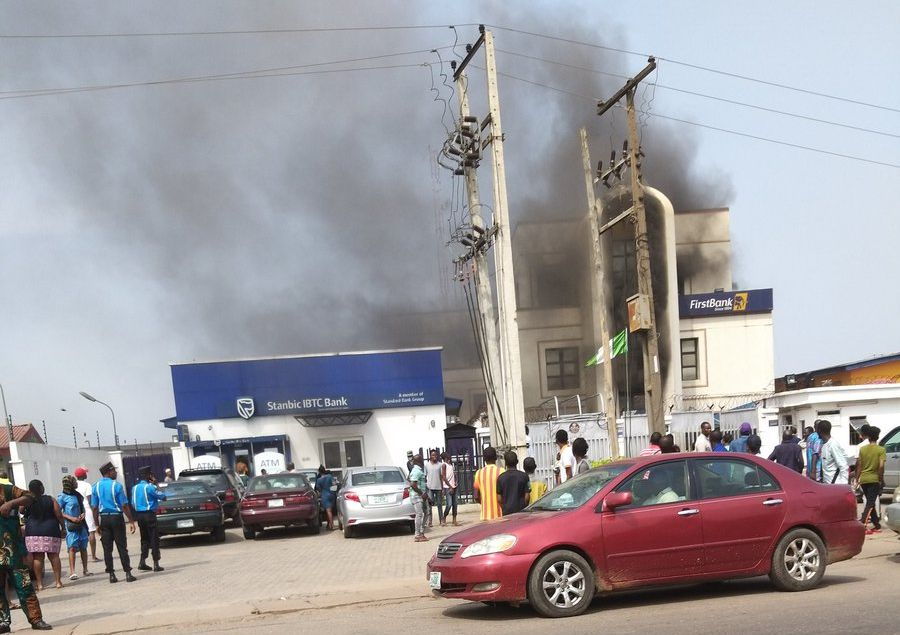 first bank agege fire Okay ng - JUST IN! Fire guts First Bank branch in Agege, Lagos [Photo]