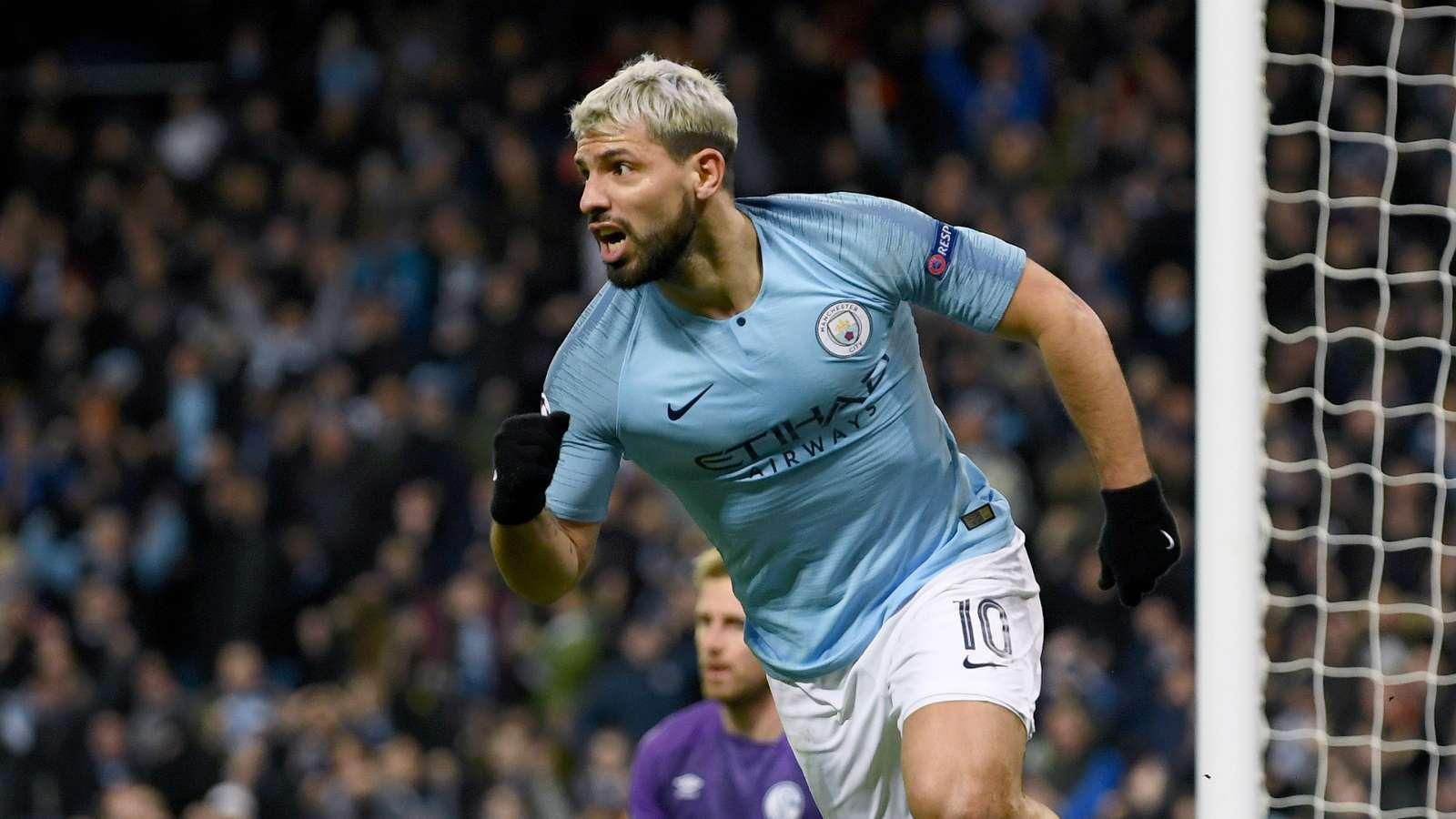 sergio aguero cropped 4n4uwjejh3041dowlw6enbzei - Manchester City vs Schalke 7-0: UEFA Champions League Match Report & Highlights [Video]