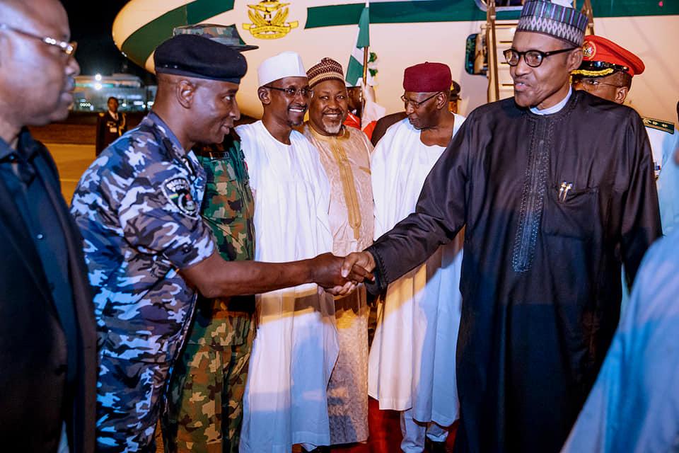 56531151 2151773261581669 661515329695907840 n - Buhari returns to Nigeria after summits in Jordan, Dubai [Photos]