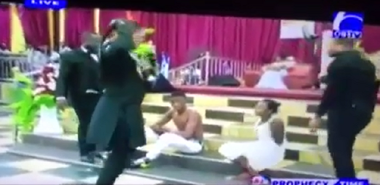 Photo of Pastor uses belt to whip members for engaging in sex before marriage [Video]