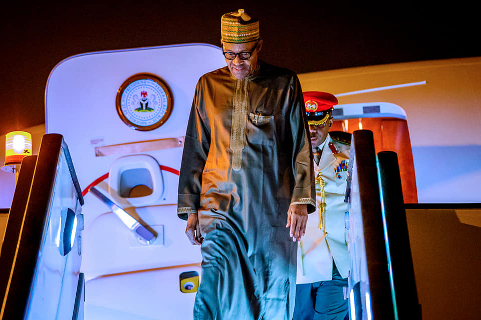 Buhari Jordan Okay ng 1 - Buhari arrives Jordan ahead of World Economic Forum [Photos]