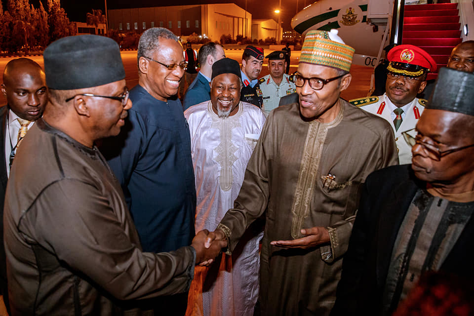 Buhari Jordan Okay ng 3 - Buhari arrives Jordan ahead of World Economic Forum [Photos]