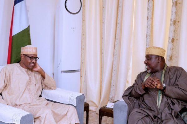 Buhari Okorocha Okay ng - Okorocha rushes to meet Buhari in Aso Rock Villa as he departs for Senegal