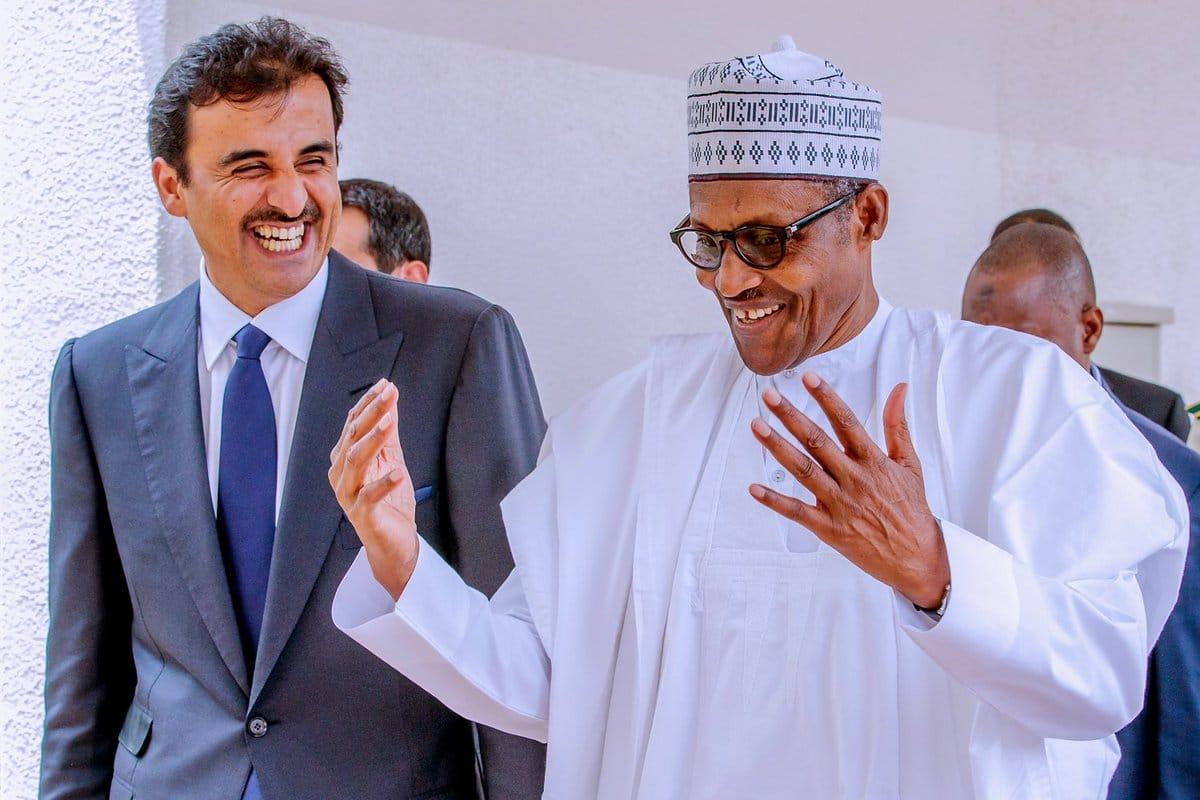 Buhari Qatar Emir Okay ng 1 - Buhari welcomes Emir of Qatar in Aso Rock [Photos]