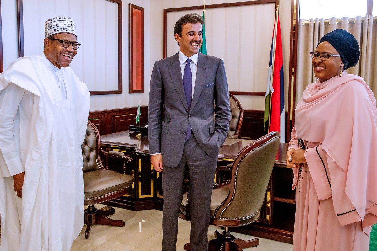 Buhari Qatar Emir Okay ng 3 - Buhari welcomes Emir of Qatar in Aso Rock [Photos]