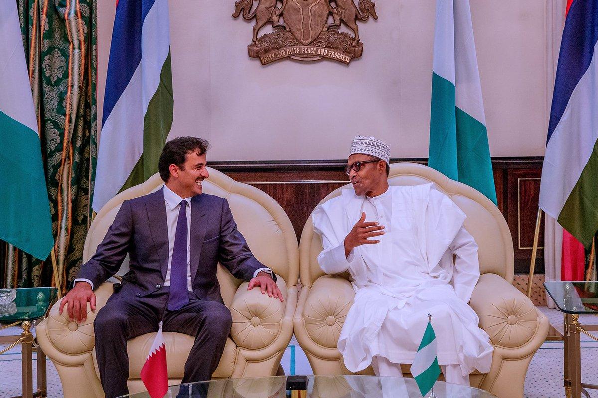Buhari Qatar Emir Okay ng 4 - Buhari welcomes Emir of Qatar in Aso Rock [Photos]