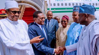 Buhari in Chad 1 Okay ng 390x220 - Buhari meets other African leaders in Chad for CEN-SAD summit [Photos]