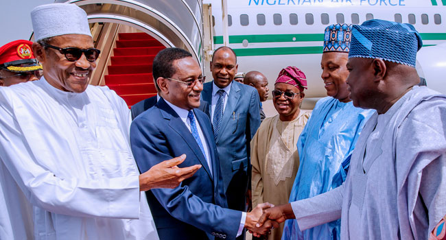 Buhari in Chad 1 Okay ng - Buhari meets other African leaders in Chad for CEN-SAD summit [Photos]