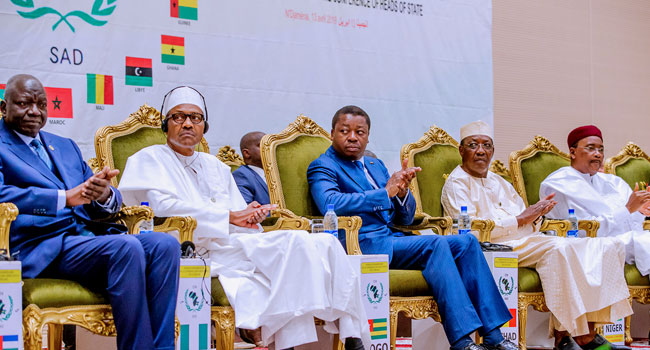 Buhari in Chad 3 Okay ng - Buhari meets other African leaders in Chad for CEN-SAD summit [Photos]
