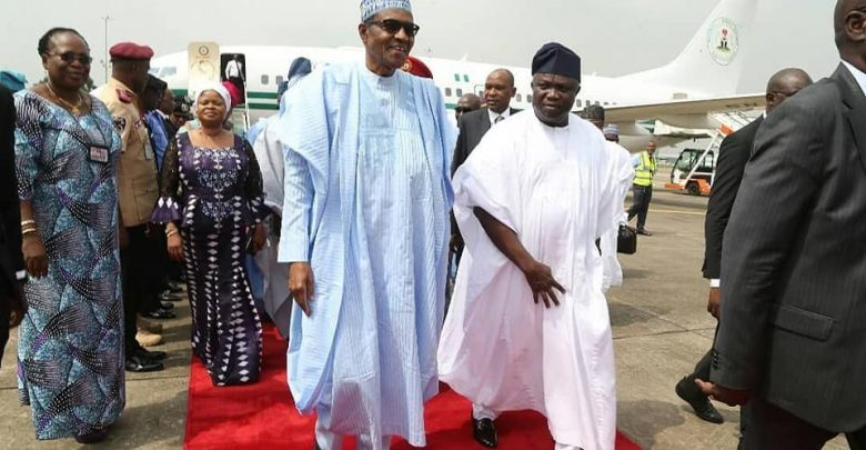Photo of Buhari lands in Lagos for commissioning of projects [Photos]