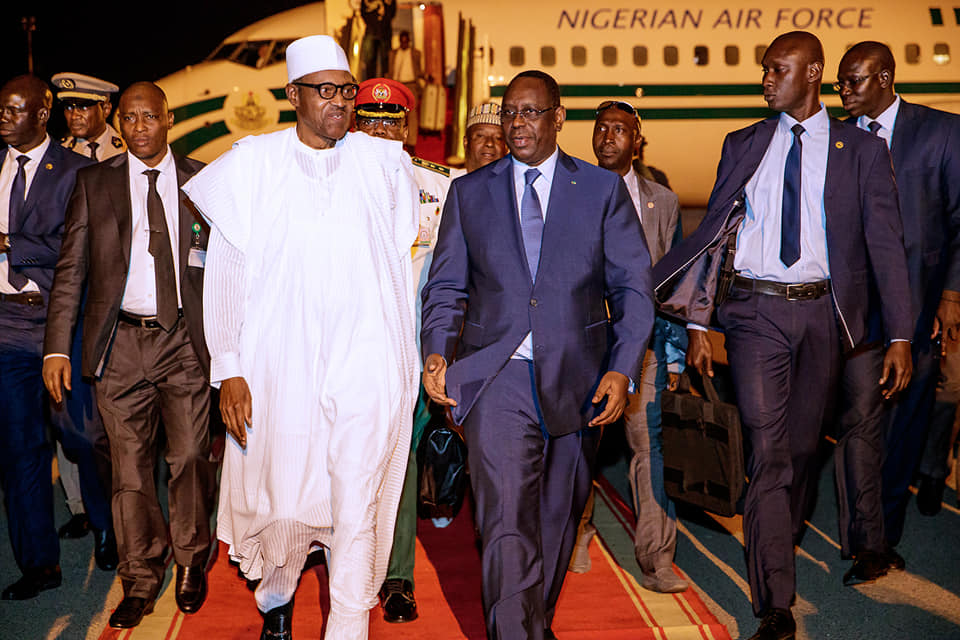 Buhari in Senegal Okay ng 2 - Buhari lands in Senegal ahead of Presidential Inauguration ceremony [Photos]