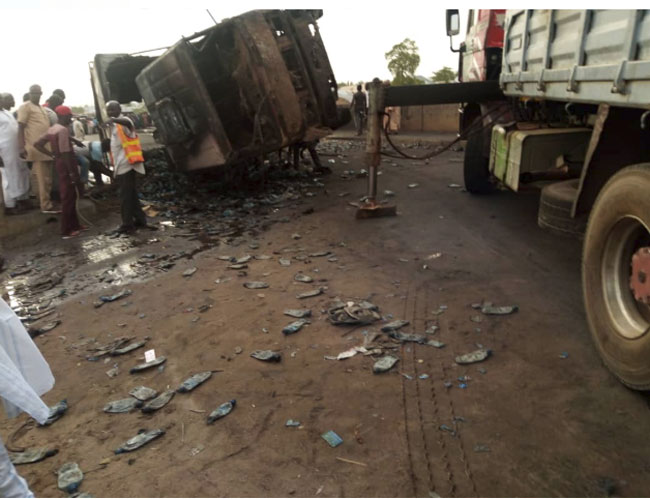 Gas Tanker 6 Okay ng 1 - Number of dead persons in Gombe tanker explosion rises to 16