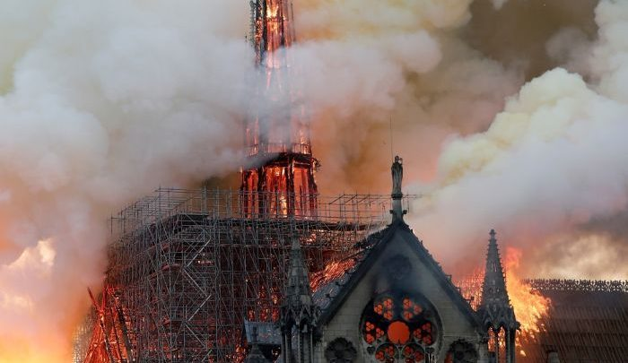 Photo of Massive fire guts Notre Dame cathedral in Paris