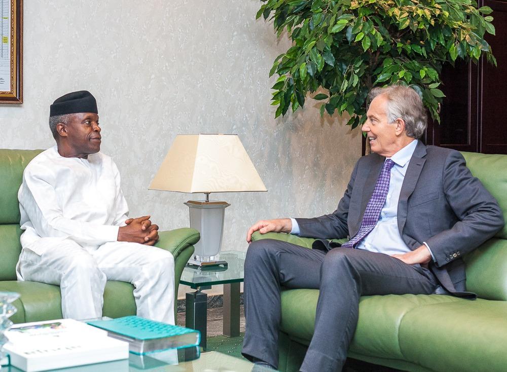 Osinbajo Tony Okay ng - Tony Blair meets with Osinbajo as he arrives Nigeria