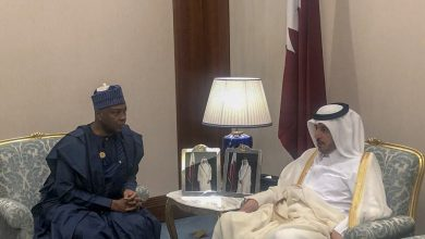 Saraka Qatar PM Okay ng 390x220 - Saraki pleads with Qatar to lift Visa ban on Nigerians