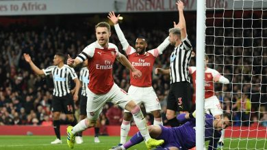 aaron ramsey cropped 4slsunb86kyz1kotfq2eqlq9e 390x220 - Arsenal defeats Newcastle 2-0: Premier League Highlights [Video]