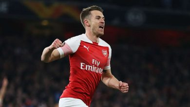 aaron ramsey 3f0k5ajgnbul1otra7kiw7856 390x220 - Arsenal secures 2-0 win against Napoli: UEFA Europa League Highlights [Video]