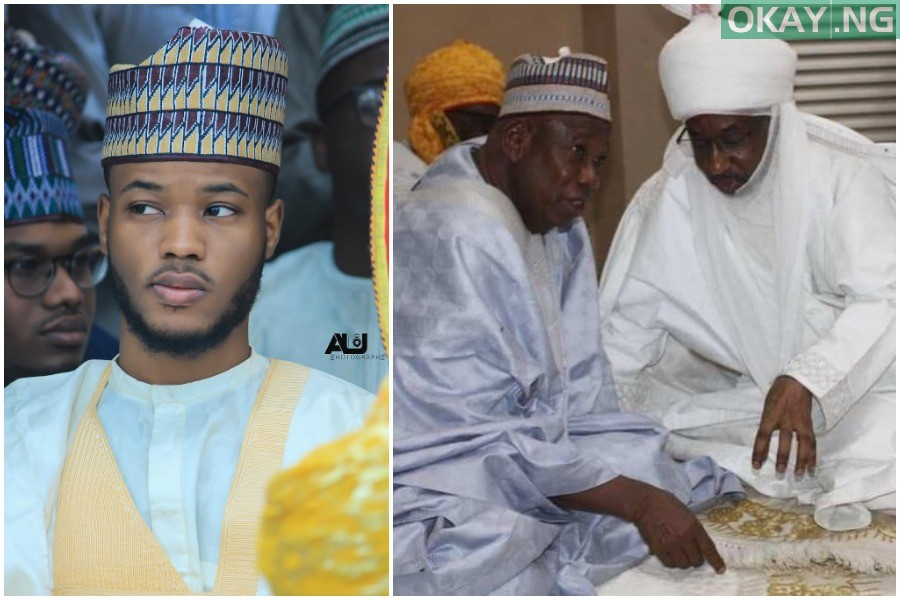 Adam Emir Sanusi Ganduje Okay ng 1 - Read what Emir Sanusi's son wrote about controversy surrounding creation of four new emirates in Kano