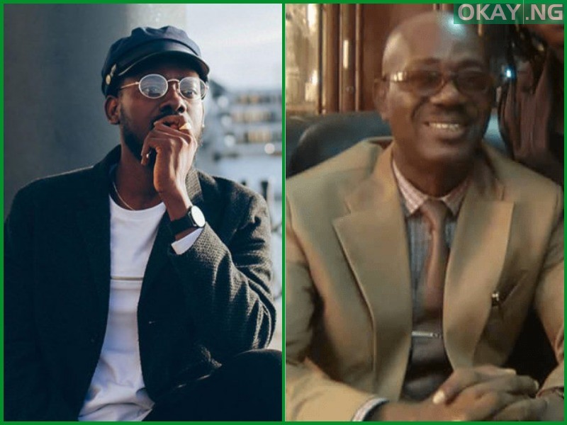 Adekunle Gold father Okay ng - Adekunle Gold finally speaks on father's death