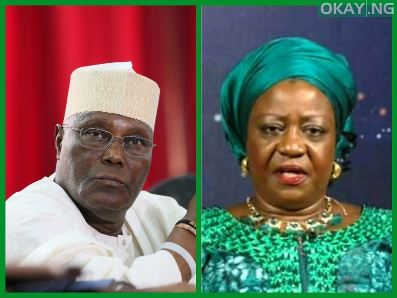 Atiku Lauretta Okay ng - Atiku warns Buhari's aide, ask for N500m damages, apology over defamatory comments