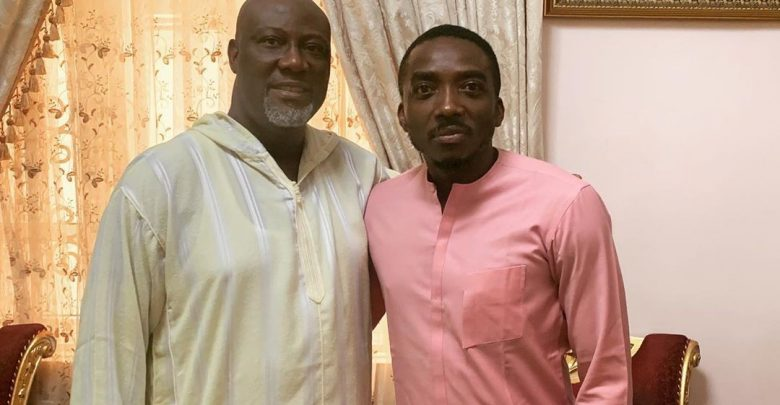 Photo of Bovi visits Dino Melaye over mother's death