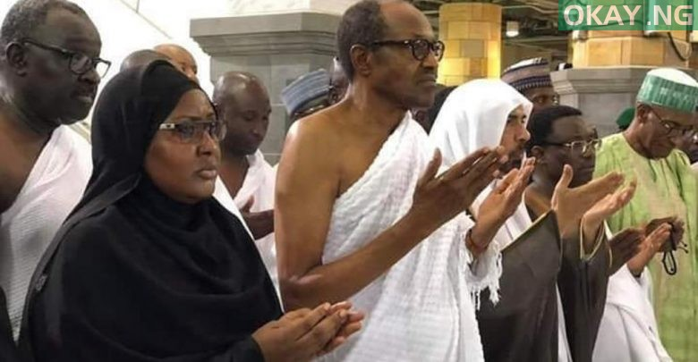 Photo of Buhari, Aisha performing lesser hajj in Saudi Arabia [Photos]