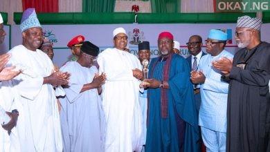 Buhari Governors Award Okay ng 1 390x220 - APC Governors present award to President Buhari [Photos]