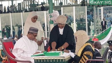 Buhari Inuagration Okay ng 1 390x220 - Buhari, Osinbajo sworn-in for second term in office [Photos]
