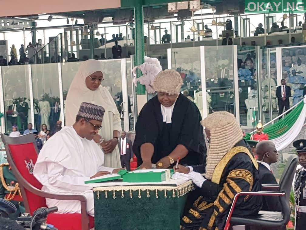 Buhari Inuagration Okay ng 1 - Buhari, Osinbajo sworn-in for second term in office [Photos]