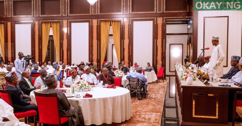 Photo of How Buhari hosted Dangote, Otedola, others to break Ramadan fast [Photos]