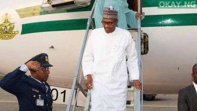 Buhari Saudi Return Okay ng 1 390x220 - Moment Buhari returned to Abuja from Saudi Arabia [Photos]