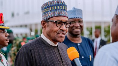 Buhari in Abuja United Kingdom 1 Okay ng 4 390x220 - What Buhari said over Insecurity, new cabinet on arrival from UK