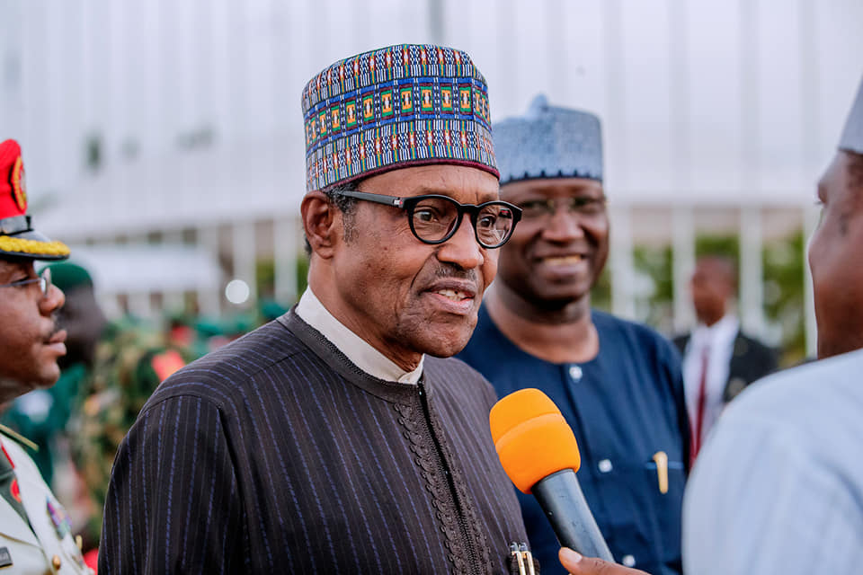 Buhari in Abuja United Kingdom 1 Okay ng 4 - What Buhari said over Insecurity, new cabinet on arrival from UK