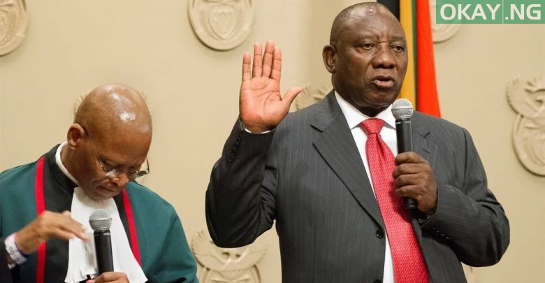 Photo of Cyril Ramaphosa sworn in as president of South Africa