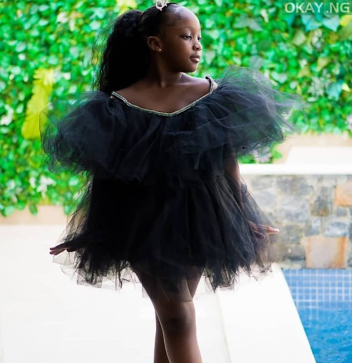 Emmanuela 7 Okay ng - Timaya shares lovely photos of first daughter on seventh birthday