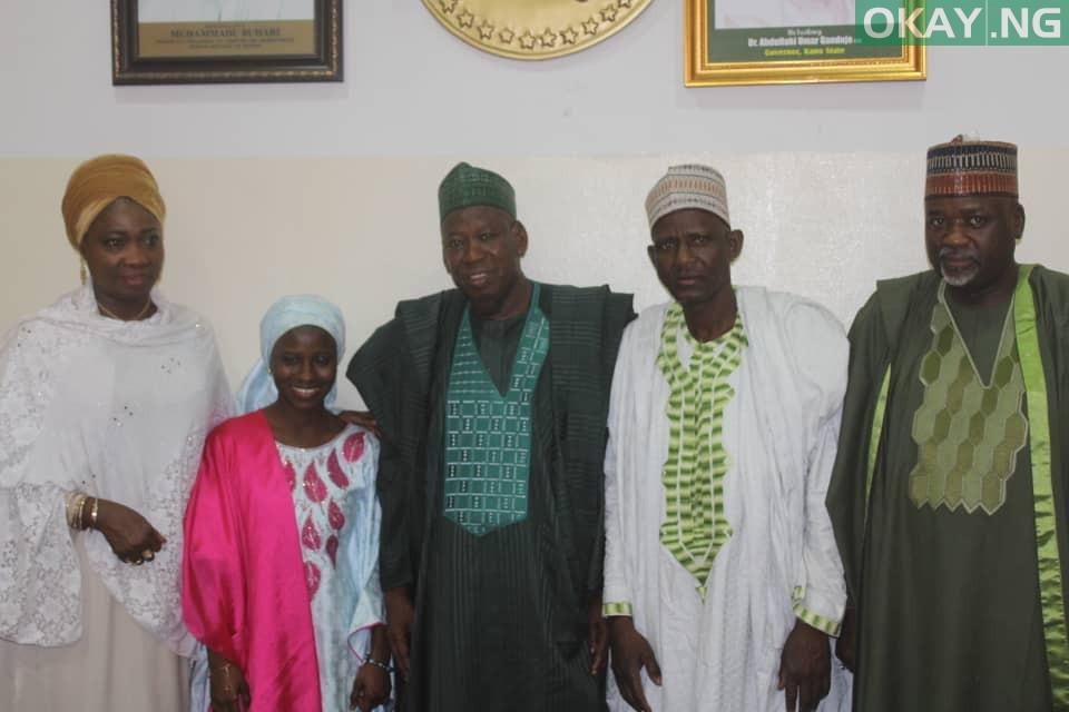 Ganduje Zainab Okay ng 1 - Ganduje meets with Zainab Aliyu, Ibrahim Abubakar after return from Saudi Arabia [Photos]