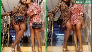 Iyabo Ojo and her daughter, Priscilla