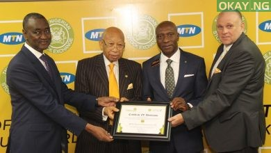 MTN Nigerian Stock Exchange Okay ng 390x220 - MTN Nigeria finally listed on Nigerian Stock Exchange