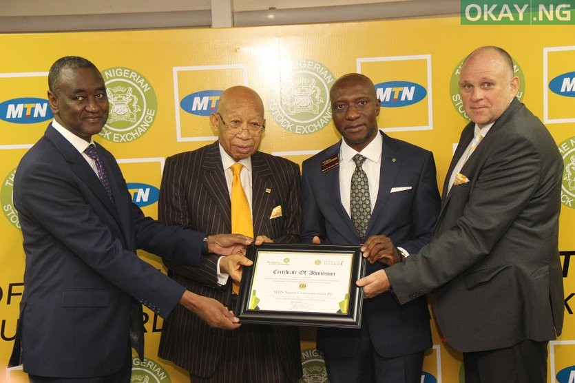 MTN Nigerian Stock Exchange Okay ng - MTN Nigeria finally listed on Nigerian Stock Exchange