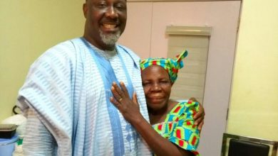 Dino Melaye and his mother