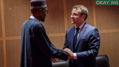 Muhammadu Buhari Emmanuel Macron Okay ng 390x220 - Buhari gets invitation from French President to attend summit