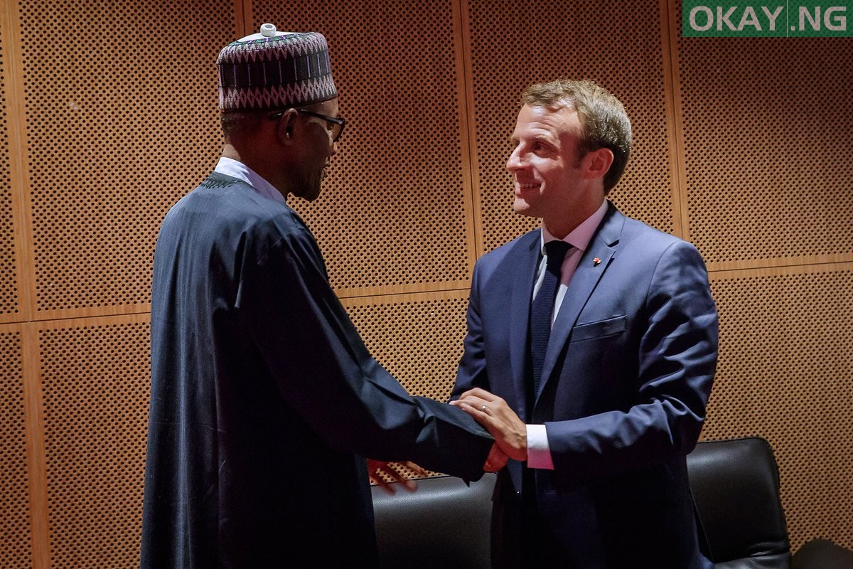 Muhammadu Buhari Emmanuel Macron Okay ng - Buhari gets invitation from French President to attend summit