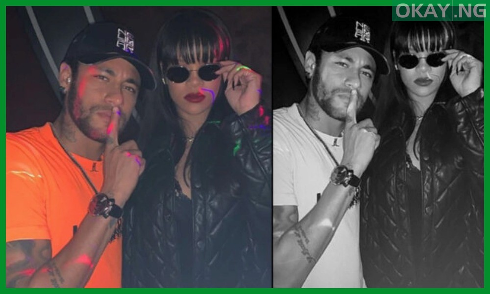 Neymar and Rihanna hanging out
